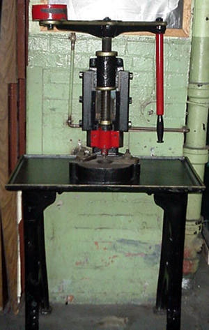 Antique Screw Press Hand Operated C Frame Design Circa