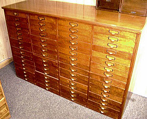Antique Wood Parts Cabinet ~ Beautiful Condition! MUST SEE ...