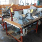 2 of 4 Polishing Benches with Baldor Motors and controls