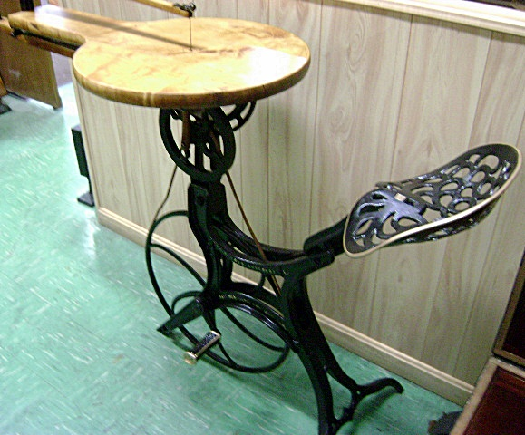 7224 385 Antique Pedal Operated Bicycle Style Scroll Saw