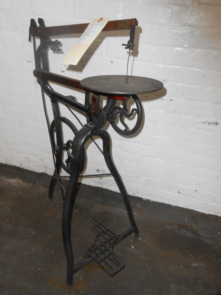 8723 385 Antique Foot Operated Reciprocating Scroll Saw 171 Gold International Machinery The One