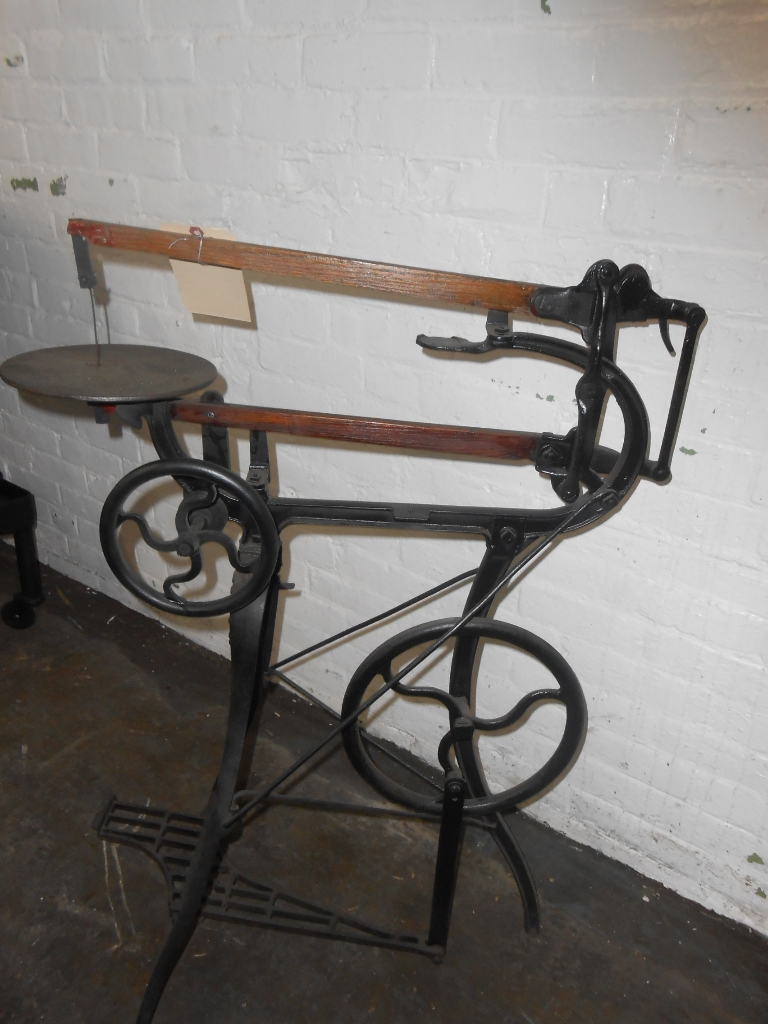 8723 385 Antique Foot Operated Reciprocating Scroll Saw