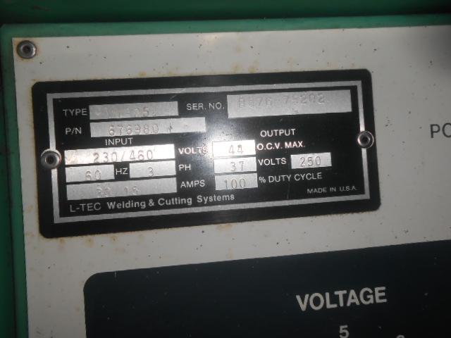 Stop N Shop Hours >> 6785-300 L-Tec, 250 Amp MIG Welding System Model VI-252-CV ...