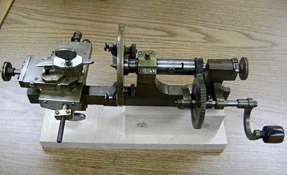 Antique Bench Model Watchmaker S Jeweler S Lathe Hand