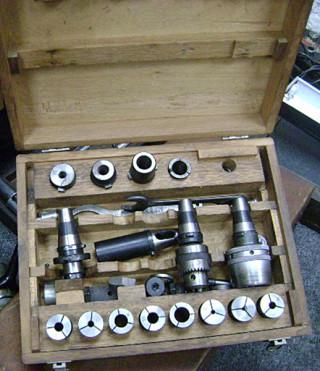 1038 700 Nikken 35 Taper Tool Holder Set With Case 171 Gold