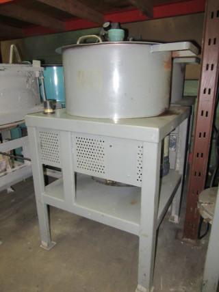 white metal machine