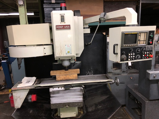 2943-500 Kent USA CNC TW-32-MV Bed Mill with FANUC 3-Axis 0