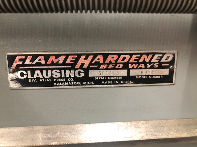 0447-440 Clausing 14″ x 48″ Precision Lathe, Mode 6918